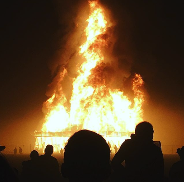 Burning Man Temple Fire Addiction Psychedelics